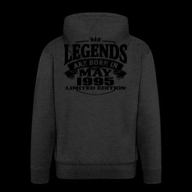 Legends are born in may 1995 - Men's Premium Hooded Jacket