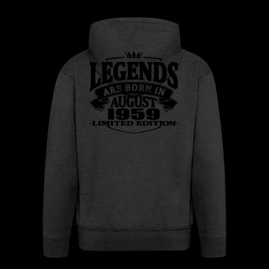 Legends are born in august 1959 - Men's Premium Hooded Jacket