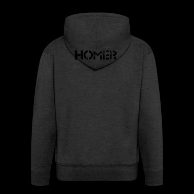 Homer (black) - Men's Premium Hooded Jacket