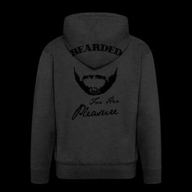 Bearded for her pleasure - bearded - Men's Premium Hooded Jacket