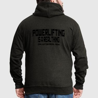 REAL THING powerlifting - Felpa con zip Premium da uomo