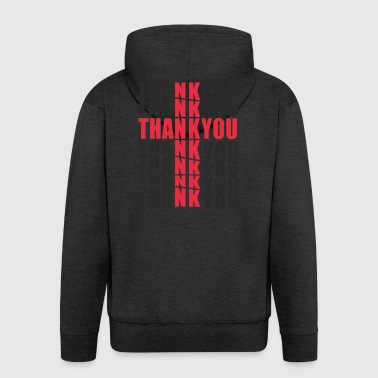 Thank you Jesus - Men's Premium Hooded Jacket