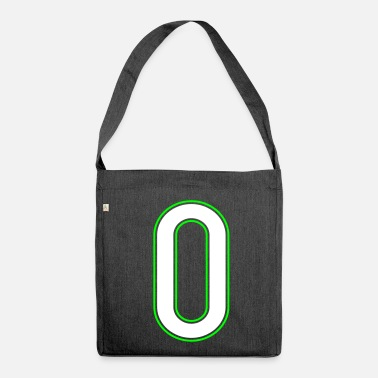 Null 0, 00, Null, Zero, Cero, Pelibol ™ - Shoulder Bag made from recycled material