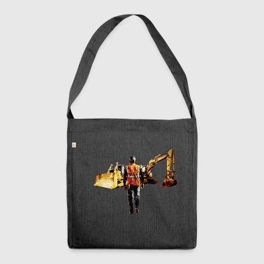 Diggers and Dozers - Shoulder Bag made from recycled material