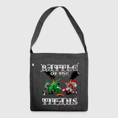BATTLE of the TITANS - Shoulder Bag made from recycled material