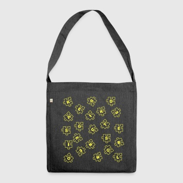 puzzle - Borsa in materiale riciclato
