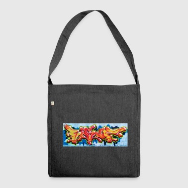 Bigup Graffiti Piece Streetart Style - Shoulder Bag made from recycled material