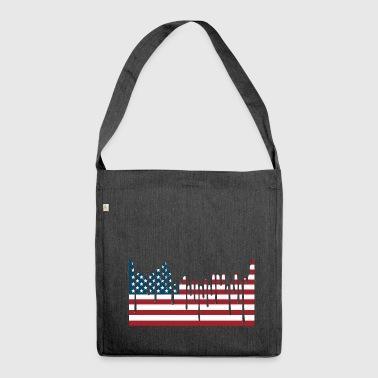 USA FLAG Tee Shirts - Shoulder Bag made from recycled material