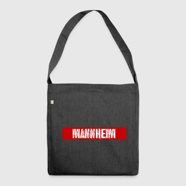 Mannheim redstripe - Shoulder Bag made from recycled material