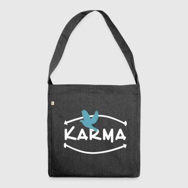 Karma peace dove YingYang fate future - Shoulder Bag made from recycled material