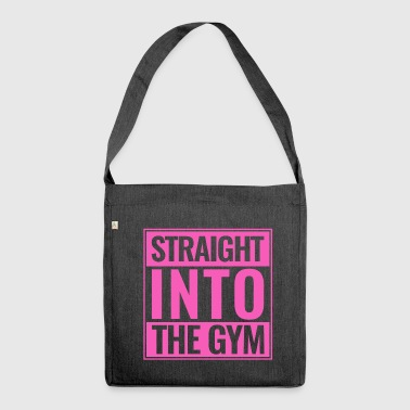 Straight Into The Gym Logo pink - Schultertasche aus Recycling-Material