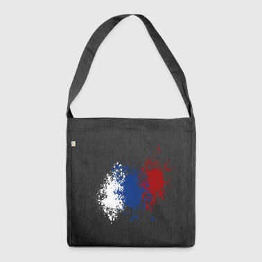 splatter russia - Borsa in materiale riciclato