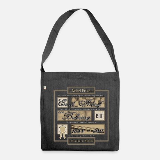 Reason Bags & Backpacks - Diphtheria - Shoulder Bag recycled heather black