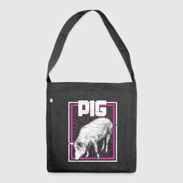 Pig with frame - Shoulder Bag made from recycled material