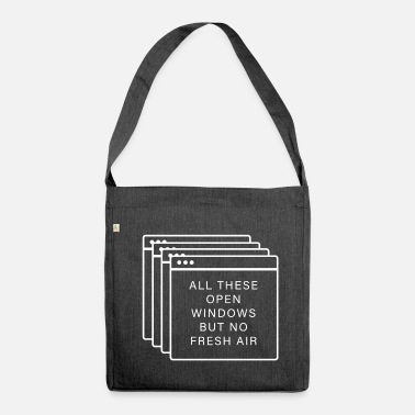 Windows Windows Fenster - All these open windows - Schultertasche aus Recycling-Material