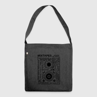 Genres of a mixtape - Fontart Audio cassette - Shoulder Bag made from recycled material