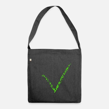 Green Peace V green - Shoulder Bag made from recycled material