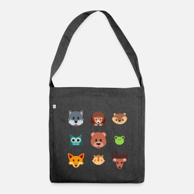 Castor The animals of the forest - Shoulder Bag made from recycled material