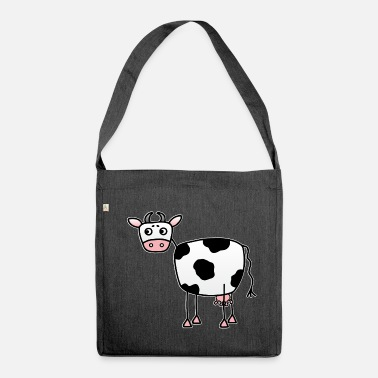 Udder Funny cow with udder - Shoulder Bag made from recycled material