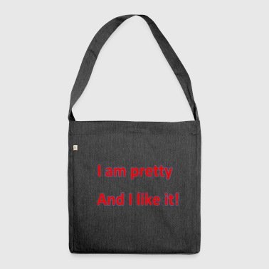 i am pretty - Schultertasche aus Recycling-Material