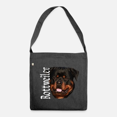 Rottweiler Rottweiler, dog, dog head, dog sports, - Shoulder Bag made from recycled material