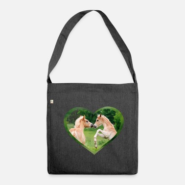 Haflinger foal funny friends with heart - Shoulder Bag recycled