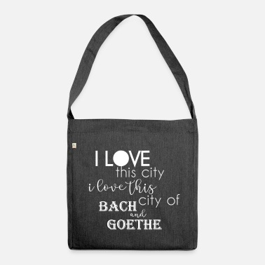 Bach bach goethe - Shoulder Bag made from recycled material