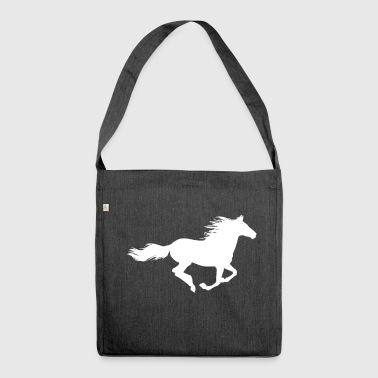 cavallo in corsa - Borsa in materiale riciclato