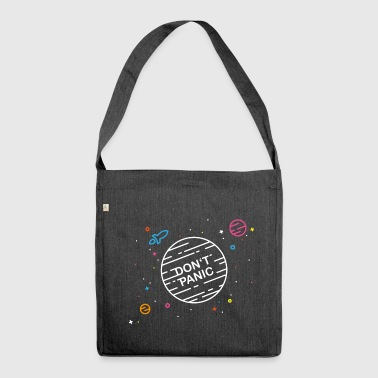 Don't Panic - Schultertasche aus Recycling-Material