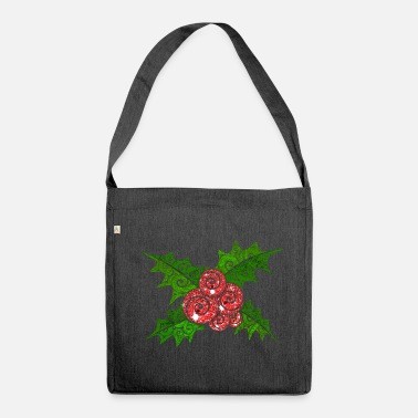 Swirly Mistletoe - Shoulder Bag made from recycled material