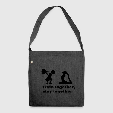 Fitness couple - Shoulder Bag made from recycled material