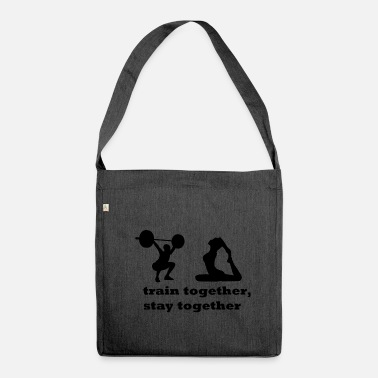 Fitness Fitness couple - Shoulder Bag made from recycled material