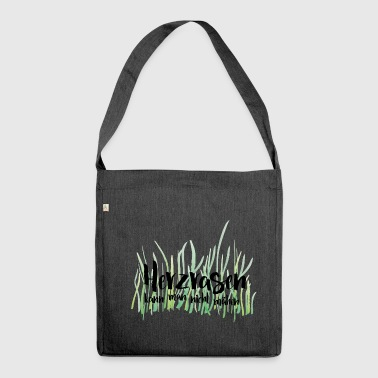 You can not mow the lawn - Shoulder Bag made from recycled material