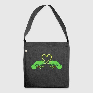 Chameleons Sticky Love - Shoulder Bag made from recycled material