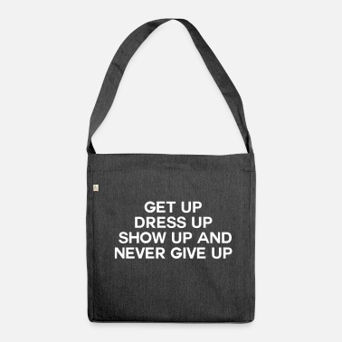 Up Never Give Up - Shoulder Bag recycled