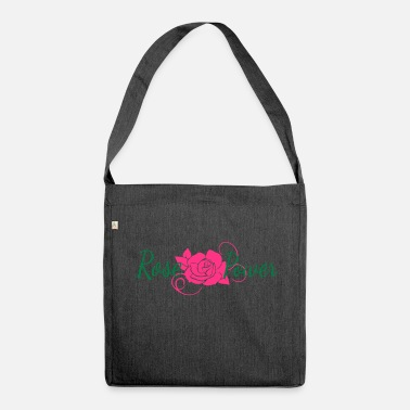 Flower Power Rose Flower Power Flower - Borsa in materiale riciclato