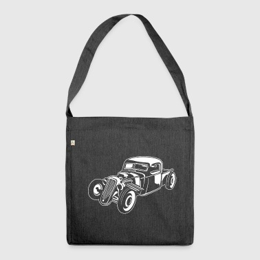 Hot Rod / Rat Rod 08_white - Shoulder Bag made from recycled material