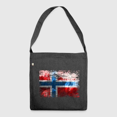 Norwegian flag - Shoulder Bag made from recycled material