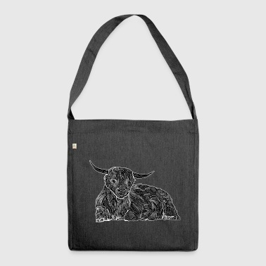 Highland cattle shirt - Shoulder Bag made from recycled material