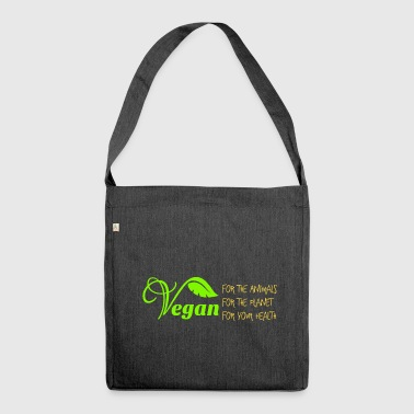 Vegane Philosophie - Schultertasche aus Recycling-Material