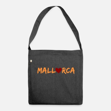 Mallorca Mallorca with heart - Shoulder Bag made from recycled material