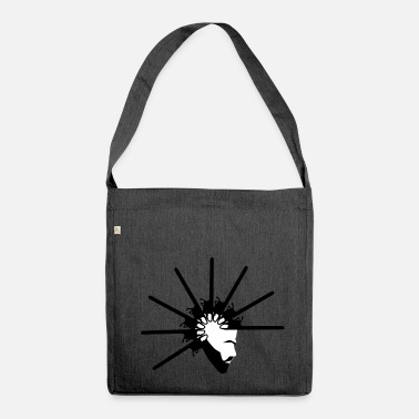 Mohawk Chainsaw Mohawk Man - Shoulder Bag made from recycled material