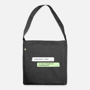 Beer message - Shoulder Bag made from recycled material