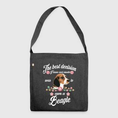 Beagle beagle - Shoulder Bag made from recycled material