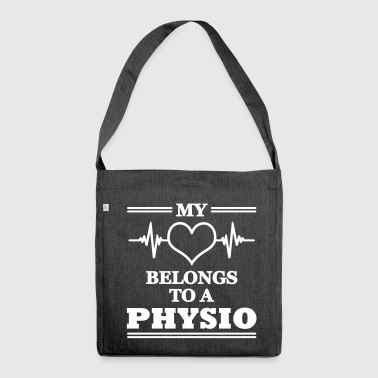 My heart belongs to a physio - Shoulder Bag made from recycled material