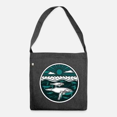 Nature Collection Humpback whale family marine animals sun ocean sea 2 - Shoulder Bag recycled