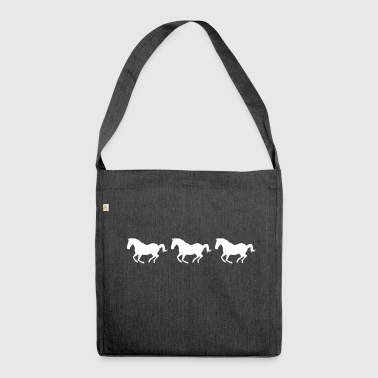 Gallop Galloping horses - Shoulder Bag made from recycled material