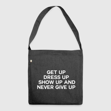 Never Give up - Borsa in materiale riciclato