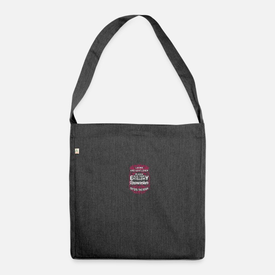 Birthday Bags & Backpacks - researcher - Shoulder Bag recycled heather black