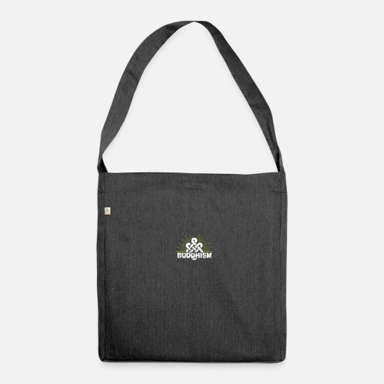 Gift Idea Bags & Backpacks - Buddhism - Shoulder Bag recycled heather black